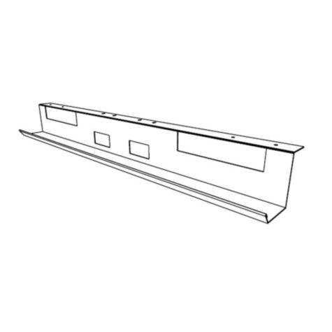 Line drawing of wire management tray