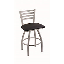 "Jackie Faux Leather or Wood Big & Tall Stool w/Back - 25""H Swivel Seat, 8814382"