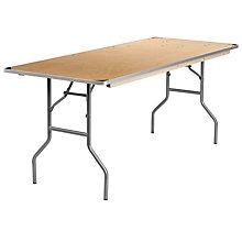 Unfinished Wood folding table, 8812609