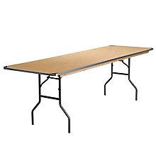 Unfinished Wood folding table, 8812610