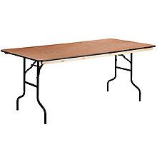 Rectangular Wood Folding Table, 8812613