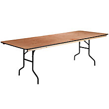 Rectangular Wood Folding Table, 8812614