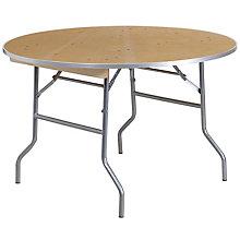 Unfinished Wood folding table, 8812617