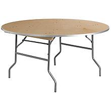 Unfinished Wood folding table, 8812618