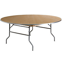 Unfinished Wood folding table, 8812619