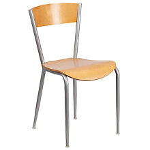 Metal Chair with Wood Seat and Back, 8812646