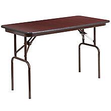 24 x 48 Walnut Folding Table, 8812689
