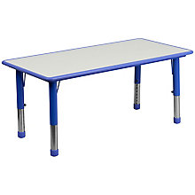 Blue preschool activity table, 8812735