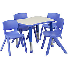 Height Adjustable Activity Table Set with 4 Chairs, 8812737
