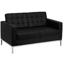 Black Bonded Leather loveseat, 8812766