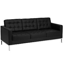 Black Bonded Leather sofa, 8812767