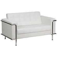 White Bonded Leather loveseat, 8812769