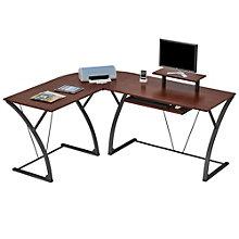 "Khloe L-Shaped Computer Desk - 70""W, 8802964"