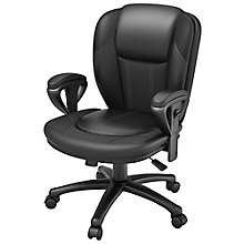 Galena Bonded Leather Contoured Computer Chair, 8814156