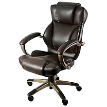 Galena Bonded Leather Executive Chair with Headrest, 8814162