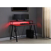 "Red and Black Light Up Desk - 48""W x 24""D, 8827900"