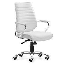 Enterprise High Back Vinyl Executive Chair, ZUO-2051