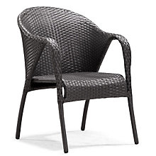Montezuma Curved Back Outdoor Arm Chair, ZUO-701362