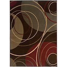 "Amelia Abstract Swirl Rug 5'W x 7'6""D, 8825413"