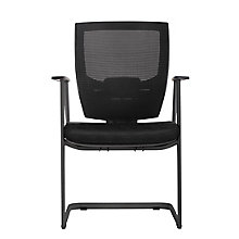 Cantilever Guest Chair with Memory Foam Patterned Fabric Seat, 8808163