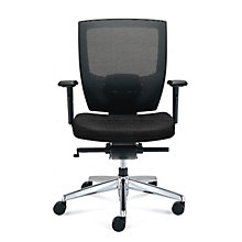 Mid-Back Mesh Chair with Memory Foam Patterned Fabric Seat, 8808162