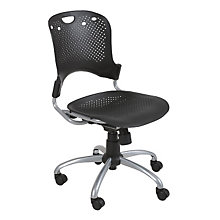 Circlulation Black Plastic Task Chair, MOO-34552