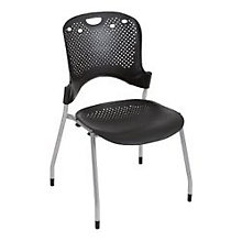 Circulation Gray Plastic Stack Chair, MOO-34553