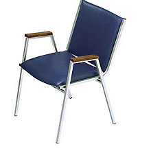 Vinyl Stack Chair with Arms, KFI-411V