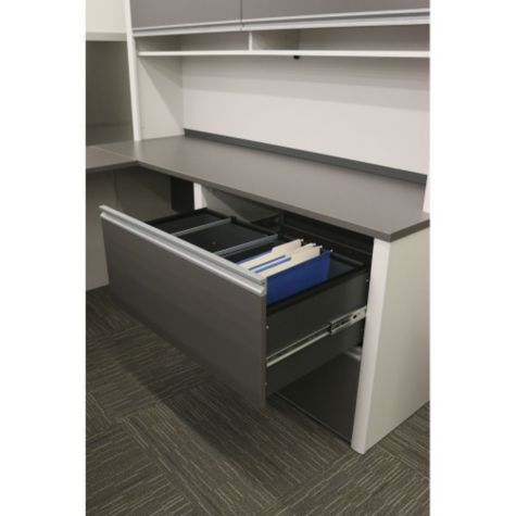 Top File Drawer Open (Hutch Not Included)