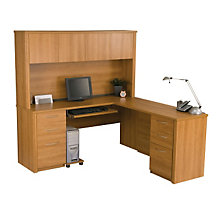 Embassy Reversible L-Desk with Hutch, OFG-LD0067