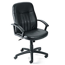 Littleton Mid-Back Computer Chair in Bonded Leather, 8802689