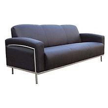 Black Vinyl Reception Sofa, 8803690