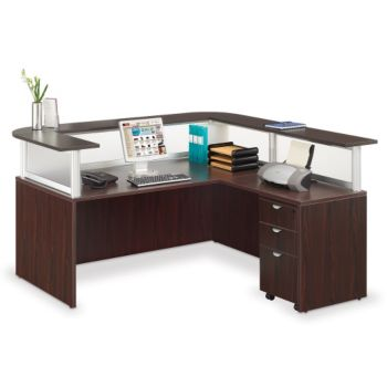 L Shaped Reception Desk With Mobile Pedestal Boc 10641