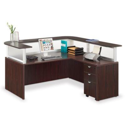 L Shaped Reception Desk With Mobile Pedestal , BOC 10641