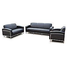 Black Vinyl Three-Piece Seating Group, 8803697