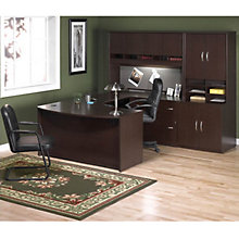 udesk with right bridge hutch and storage ofgud1018 - Bush Office Furniture