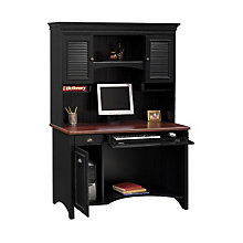 Antique Black and Hansen Cherry Desk with Hutch, OFG-DH1064