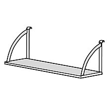 "P-Series 60""W Open Hanging Steel Shelf, 8813584"