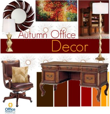 Warm Up with Autumn Office Décor
