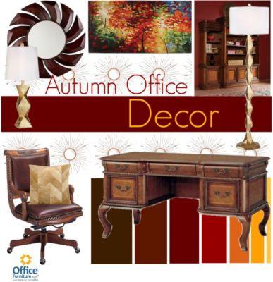 Warm Up with Autumn Office Décor