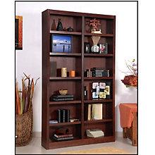"Twelve Shelf Double Bookcase - 84""H, CIW-MI4884"