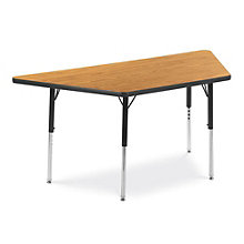 "60"" W x 30"" D Trapezoid Adjustable Height Child Size Table, VIR-10242"