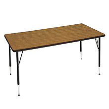 "Adjustable Height Rectangular Utility Table - 30"" x 60"", OFG-TS1025"