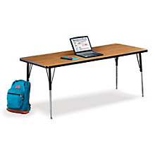 "Set of Four 72""W x 30""D Adjustable Height Utility Tables, 8825363"