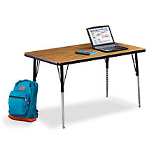 "48"" W x 24"" D Adjustable Height Child Size Activity Table, VIR-10238"