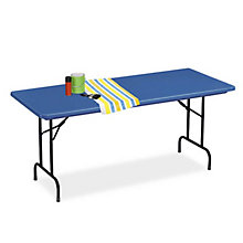 "Lightweight Plastic Folding Table - 30"" x 72"", COR-R3072"