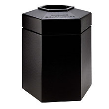 Hexagonal Waste Receptacle - 45 Gallon, 8822824