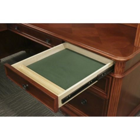 Top Box Drawer is Lined and Has a Pencil Tray