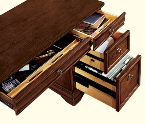 Drawers shown open
