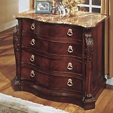 Bordeaux Cherry Two Drawer Lateral File with Marble Top, DMI-7688-17